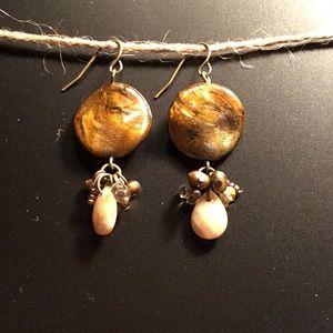 Cookie Lee stone and bead earrings